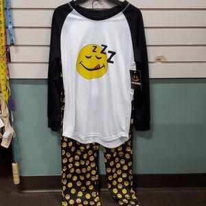 Boys smiley face pj set